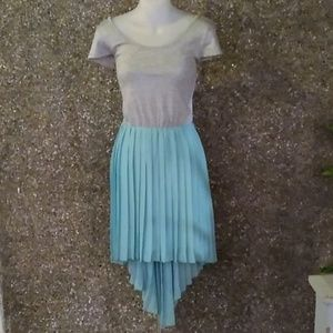 Charlotte Russe Blue & Gray Tutu Dress